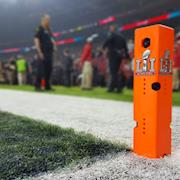 Admiral Video's PylonCam 2.0™ seen on the field during Super Bowl LI