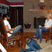 Entertainment interview for PBS, with Cannes Filmmaker and friend Keri Lurtz