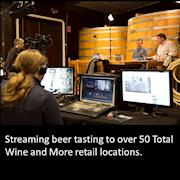 Stream Machine on set w Boston Beer