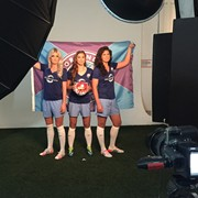 BTS with the beautiful ladies of the new Orlando Pride Team!