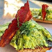 Avocado Toast w/ Fresh Herbs and Bacon
