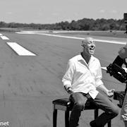 Touching Down Music Video, Shot on a landing strip