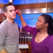 Behind the scenes of TV appearance for Joey McIntyre. Makeup and grooming by Candace Corey.