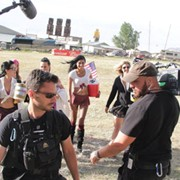 "Working as an AC on the Reality Show, ""Full Throttle Saloon."" Sturgis, SD"