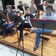 Jazz Ensemble with microphone setup