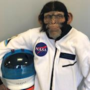 Space Monkey, Prosthetics and Hand Laid Hair