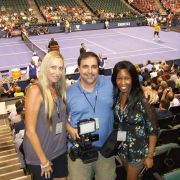behindthenet.tv w/Chang, Sampras, Conners.  With Michelle McNiff & Tommy Corpologno
