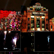 Still from Baltimore Inner Harbor Projection Mapping Project