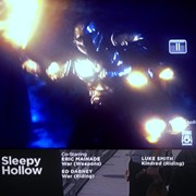 "Ed riding as ""War"" in Sleepy Hollow, season 2, episode 2 (credit shown on screen)"