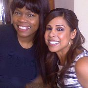 """Behind the scene of Taniya Nayak for HGTV """"Bang For Your Buck"""".  Makeup and hair by Candace Corey."""