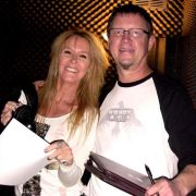 Lita Ford and Director Wynn Ponder in the ADR suite where we recorded the film's narration.