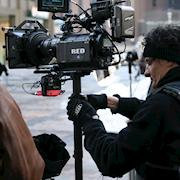 Short film shoot with RedCam on Steadicam in Chicago.