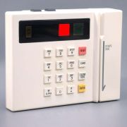 """Card-Swipe Access Control Unit with Keypad. Features simulated, self-contained operation. (Shown here in """"ACCESS DENIED"""" mode.)"""