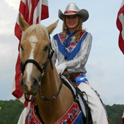 Elizabeth as rodeo flag bearer
