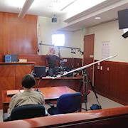 Shooting in a courtroom