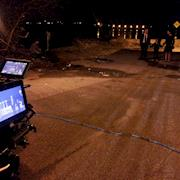 Filming night sequence for Ataraxia in Tottenville, NYC.