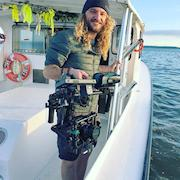 Movi Gimbal M10 with Sony A7Sii on Boat for Microsoft Commercial