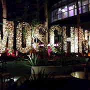 Moschino giant letter sign for event at Art Basel