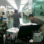 Andy Linda in a South Korean factory.