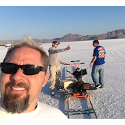 Salt Flats Jet Charged Electric Truck Shoot