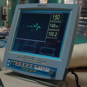 """""""Vital Signs Monitor"""" from the TV series SMALLVILLE. Consisted of a facing component temporarily attached to a stock LCD monitor."""