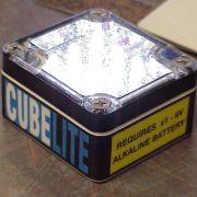 """CubeLight"" LED light product prototype."