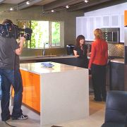 """Behind the scenes of HGTV """"Bang For Your Buck"""".  Makeup and hair by Candace Corey."""