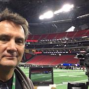 On location at Mercedes-Benz Stadium, home of the Atlanta Falcons.