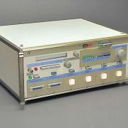 """""""Electroshock Therapy Machine"""" featuring illuminated indicators & sequential LED bar-graph """"exposure level"""" indicator."""