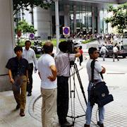 Shooting on the streets of Singapore.