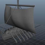Modeling: Viking Ship (June 2012); Autodesk Maya