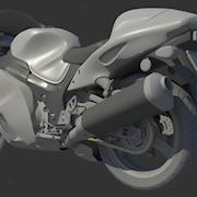 Motorcycle 3D model made from scratch