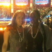 MTA Clients Chonique Sneed & Lisette Bustamante on set at Americas Best Dance Crew.