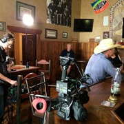 Shooting a bar scene for the Gene & Moe Show