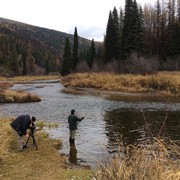Shooting fly fishing in Montana