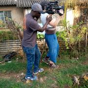 Filming in Kisumu Kenya