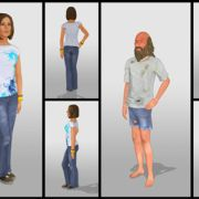 3d characters for pre-vis (Autodesk Maya, Adobe Photoshop)