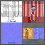 textures & UV layout for peanut bag (Autodesk Maya, Adobe Photoshop)