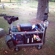 Epic and Scarlet mounted to my camera cart with full accessories