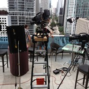Downtown Miami, about to shoot