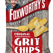 "Celebrity comedian Jeff Foxworthy's new snack chip, ""Grit Chips"""