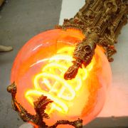 Sphere detail showing custom neon tube.