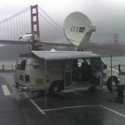 At Golden Gate bridge with CNN 2011