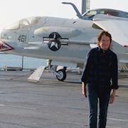 """John Fogerty on the Flight Deck of the USS Midway, San Diego, """"Love and War"""" Music Video"""