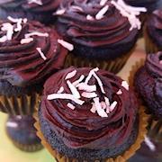 Vegan Dark Chocolate Coconut Mini Cupcakes