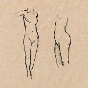 female nudes - life drawing (Pen & Ink)
