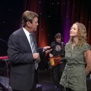 Joan Osborne TV appearance.  Makeup and hair by Candace Corey.
