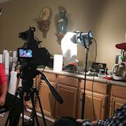 Dramatic interview lighting