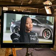 Key Makeup Artist. Makeup On Carmelita Jeter (Fastest Woman Alive- Google it) for Lexus 0 To 60 Celebrity Racing Competition