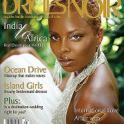 Eva Marcille Pigford Brides Noir magazine cover.  Makeup by Candace Corey.